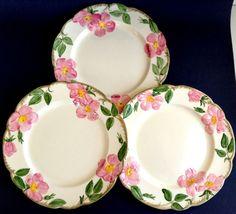 Vintage Franciscan Desert Rose 10-1/2\  Dinner Plates Lot of 3 TV & Set of 4 Franciscan Desert Rose Salad Desert Plates 8 Inch Made in ...