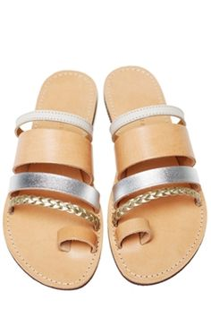 Isapera Gerbera metallic mix sandals