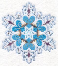 Snowflake with Flair 5 design (M10721) from www.Emblibrary.com