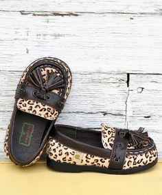 SOOOO CUTE!! Chocolate & Leopard Tassel Loafer