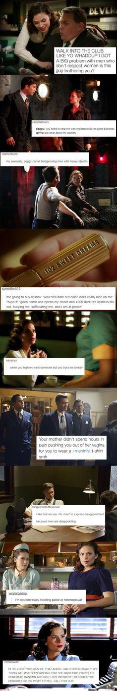 Agent Carter + text posts