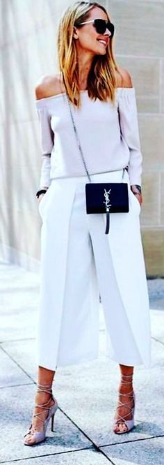 #spring #outfits  white off-shoulder dress. Pic by @ymsblog