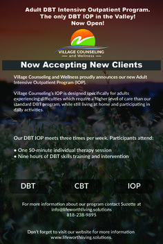 Village Counseling and Wellness proudly announces our new Adult Intensive Outpatient Program (IOP). #iop #dbt #losangeles