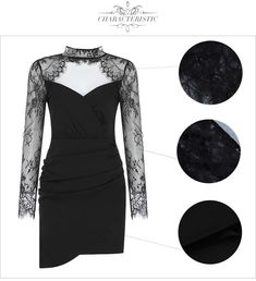 Color : Black Style : Sexy & Club Material : Polyester ,Spandex Occasion : Evening Party, Nightclub, Cocktail, Runway The post Lace Sexy Hollow Out Evening Runway Party Dresses appeared first on Power Day Sale.
