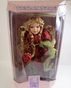 """collectible memories hand crafted genuine porcelain doll 16"""" Angela limited ed."""