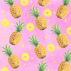 Hand drawn pineapple pattern #pineapple #patterns