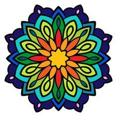 Line Art: Color by Number Mandala Drawing, Mandala Painting, Hand Kunst, Pottery Painting Designs, Madhubani Painting, Hand Art, Rock Crafts, Mandala Coloring, Mandala Pattern