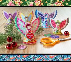 We should make these next year! Joely might be old enough to help. Christmas Is Coming, Christmas Angels, Winter Holidays, Christmas Holidays, Diy Cadeau, Arts And Crafts, Paper Crafts, Angel Decor, I Love Winter