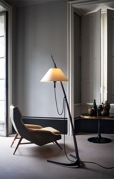 DORNSTAB | DORNSTAB 18 FLOOR LAMP  This freestanding luminaire from 1947 exemplifies Wiener Werkbund criteria