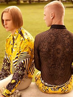 Collin Tennant and Tim Devos are photographed by Karim Sadli and styled by Jay Massacret for the new 24th issue of VMAN Magazine