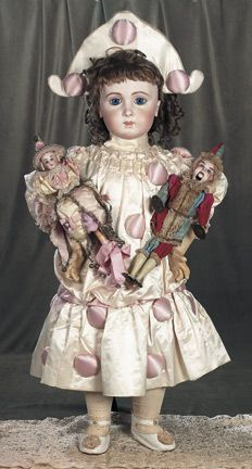 Extremely Rare and Beautiful French Bisque Bebe Triste,Size 16,by Jumeau ~ And love her dolls/toys.