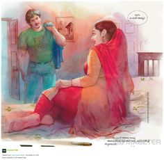Indian Women Painting, Indian Art Paintings, Cool Paintings, Human Figure Sketches, Figure Sketching, Sexy Painting, Painting Of Girl, Indian Art Gallery, Cartoon Girl Drawing