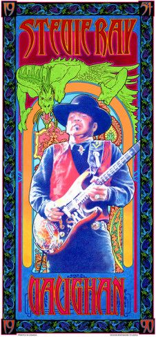 Stevie Ray Vaughan Rock Posters, Band Posters, Music Posters, Stevie Ray Vaughan, Vintage Concert Posters, Psychedelic Rock, Bob, Art Music, Rock Music