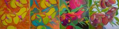 Helleborus Orientalis  mixed media on canvas  Sandrine Pelissier  See step by step demonstration here:  http://paintingdemos.com/2012/06/05/helleborus-orientalis/
