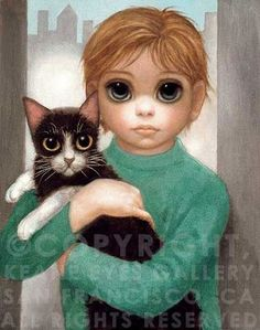 Hand-Signed and Numbered Limited Edition Print on Canvas 14 x 11 in. x cm) Edition of 300 Read Big Eyes Margaret Keane, Keane Big Eyes, Big Eyes Paintings, Eyes Artwork, Realistic Eye Drawing, Human Figure Drawing, Margareth Keane, Big Eyes Artist, Hawaiian Art