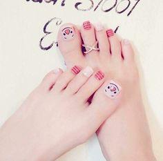 Great Nails, Cute Nail Art, Love Nails, Feet Nail Design, Toe Nail Designs, Pretty Toe Nails, Pretty Toes, Nice Toes, Fall Nail Art