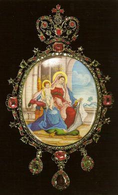Casa Imperial de todas las Rusias - Página 8 Art Nouveau Jewelry, Jewelry Art, Fashion Jewelry, Royal Crowns, Royal Jewels, Enamel Jewelry, Antique Jewelry, Locket Design, Christian Images