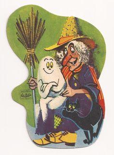 Vintage Halloween die cut decoration.