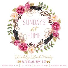 Thoughts from Alice: Sundays at Home No. 96: Two New Co-Hosts!