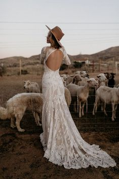 'Chance' – Free-Spirited Wedding Gowns by Dreamers & Lovers- 'Chance' – Free-Spirited Wedding Gowns by Dreamers & Lovers backless lace wedding dress - Western Wedding Dresses, Bohemian Wedding Dresses, Designer Wedding Dresses, Bridal Dresses, Wedding Gowns, Wedding Bride, Bohemian Bride, Bohemian Weddings, Wedding Dreams