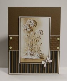 handmade card with masculine feel ... monochromatic browns ... clean lines