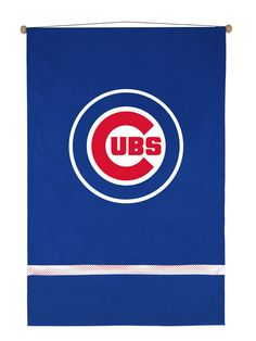 MLB Chicago Cubs MVP Wall Hanging - 45 in H x 29.5 in L - Includes Rod and String