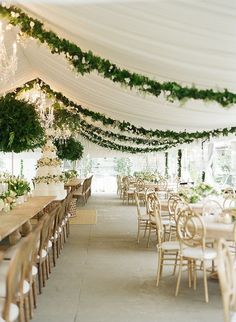 white tent wedding reception ideas with greenery decorations Wedding Reception Ideas, Tent Reception, Reception Decorations, Wedding Themes, Wedding Table, Our Wedding, Wedding Venues, Wedding Planning, Dream Wedding