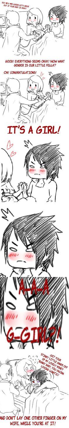 Sasuke and Sakura - Sasuke finding out about his daughter