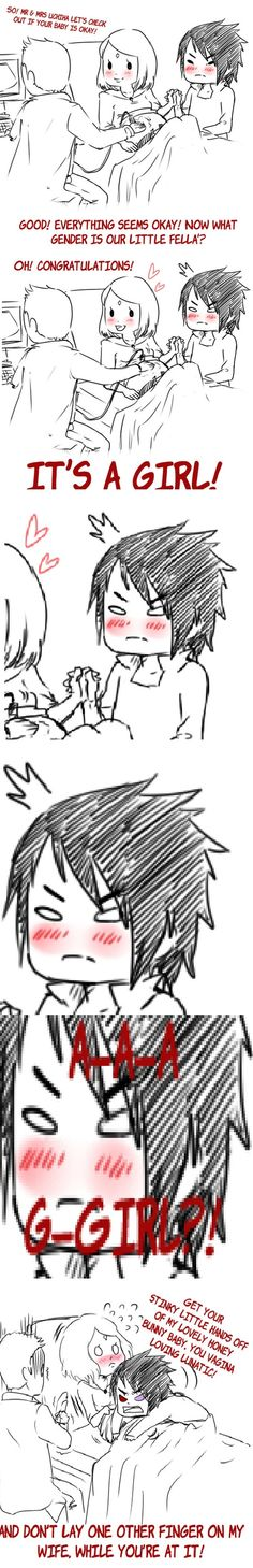 Sasuke and Sakura - Sasuke finding out about his daughter