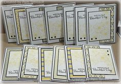 Assembly line-style cards using a 6x6 coordinated pad of paper