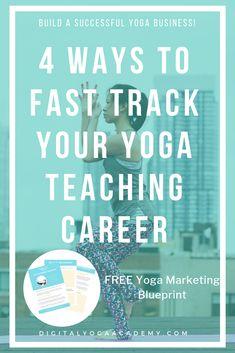 4 Ways To Fast Track Your Yoga Teaching Career - Digital Yoga Academy Importance Of Time Management, Teaching Career, Free Yoga, Yoga Teacher Training, Student Work, Pilates Reformer, Vinyasa Yoga, Yin Yoga, Online Business