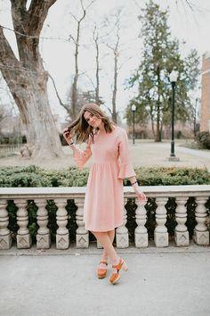 The Newport Ruffle Sleeve Dress in Petal
