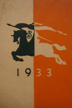 1933: The Equestrian Knight logo of Burberry, trademarked in 1901