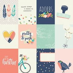 Puedes encontrar aún más ideas en Pinterest Project Life Scrapbook, Project Life Cards, Diy Crafts For Girls, Simple Stories, Printable Planner Stickers, Scrapbook Stickers, Journal Cards, Cute Stickers, Album