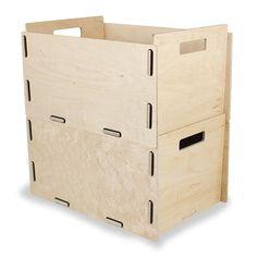 Diy Storage Drawers, Lp Storage, Storage Boxes, Locker Storage, Smart Furniture, Modular Furniture, Record Storage Box, Cnc, Ideas Geniales