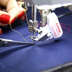 BERNINA TIPS: When working with the BERNINA Stitch Regulator (BSR), don't forget to bring the bobbin thread up before you start to cut both threads. #bernina #sewing