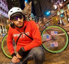 アルファルファモザイク - 【画像あり】常に肩に猫を載せて配達するサイクル便が凄い可愛いってばよ!