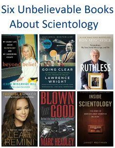 Six Unbelievable Books About Scientology reviewed on Novels And Nonfiction - #scientology #bookreviews #bookblog