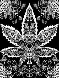 Les 25 meilleures id es de la cat gorie feuille de cannabis dessin sur pinterest - Coloriage feuille de cannabis ...