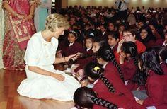 June 6, 1997: Diana, Princess of Wales during her visit to the Shri Swaminarayan Mandir Hindu Temple in Neasden, London.
