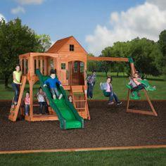 Leisure Time Products Sheridan Cedar Swing Set