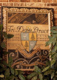 gorgeous tri delta framed art