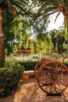 Mallorca: Zauberhafter Garten des Landhaushotels Son Julia Country House Hotel in Llucmajor, Spanien