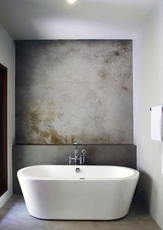 Plaster wall. Instant patina in a contemporary home.
