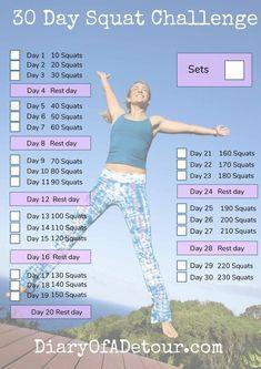 Free 30 day squat challenge printable