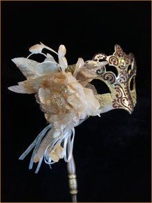 Authentic Venetian mask Colombina Estata