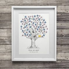 We aren't looking for this style of tree, but I think we will add our fingerprints as little love birds!