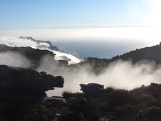 Incoming mist on Table Mountain, Cape Town