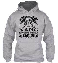 SANG - My Veins Name Shirts #Sang