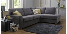 Astaire Left Hand Facing Arm Open End Corner Sofa Sherbet | DFS